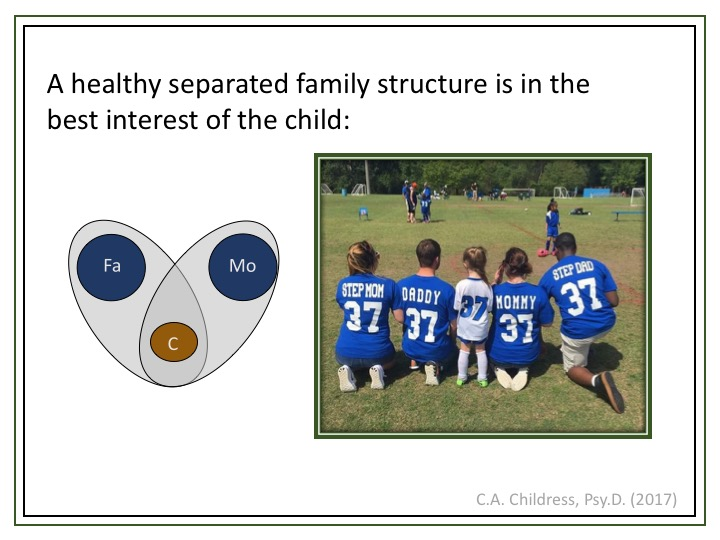 en sund familie forenet i barnet